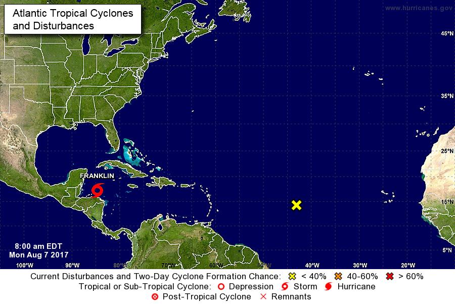 Franklin se convierte en el primer huracán de la temporada del Atlántico