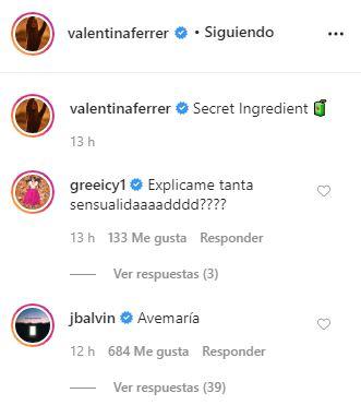 J Balvin reacciona al topless de Valentina Ferrer
