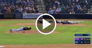 Un enjambre de abejas interviene en un partido de béisbol en EE.UU.