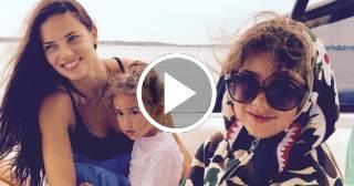 Así se preparan la modelo Adriana Lima y sus hijas para la fiesta de Halloween