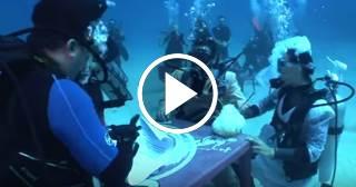 Popular youtuber y bailarina cubana se casa a 17 metros bajo el agua en La Habana