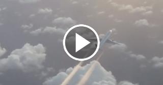 Graban en pleno vuelo, avión que cubría ruta Madrid - Habana. Imágenes muy bellas