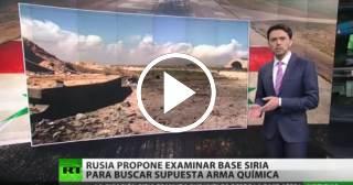 """Rusia propone investigación internacional para buscar """"el arma química"""" en base siria"""