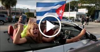Alegría en Little Habana tras la muerte de Fidel Castro