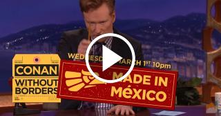 Conan O'Brien grabará programa en México