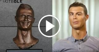 Vídeo del busto parlante de Cristiano Ronaldo bate récords de viralidad