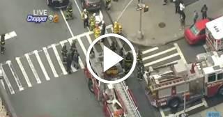 Se descarrila un tren del metro de Nueva York