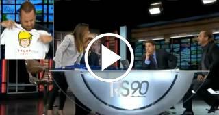 """Conocida figura de la TV en Miami """"explota"""" ante las cámaras por una broma hecha a Donald Trump"""
