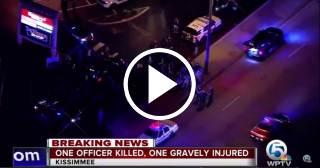 Asesinan a un policía y otro resulta herido en Kissimmee, Florida