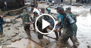 Desbordamiento de río en Colombia deja 102 muertos