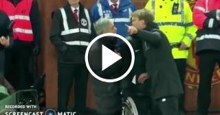 Bronca entre Mourinho y Jürgen Klopp