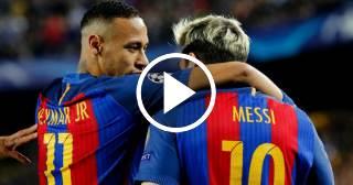 Así celebró Neymar el gol de Messi que silenció al Bernabéu