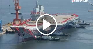 China bota su primer portaviones fabricado íntegramente en el país