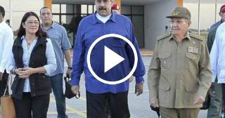 Raúl Castro despide a Nicolás Maduro tras recibir donación por el huracán Irma