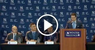 Los Yankeees le dan la bienvenida official a Giancarlo Stanton