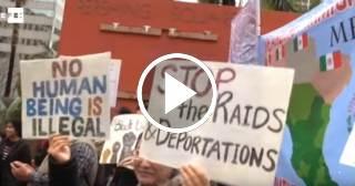 Miles de manifestantes protestan en Estados Unidos contra políticas migratorias de Trump