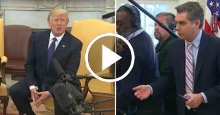 Donald Trump expulsa al reportero de origen cubano Jim Acosta del Despacho Oval