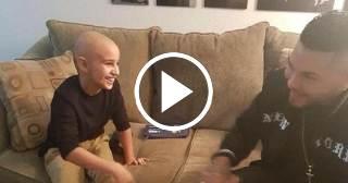 El Chacal cumple el sueño de Samuel, el niño enfermo de cáncer que adora su música
