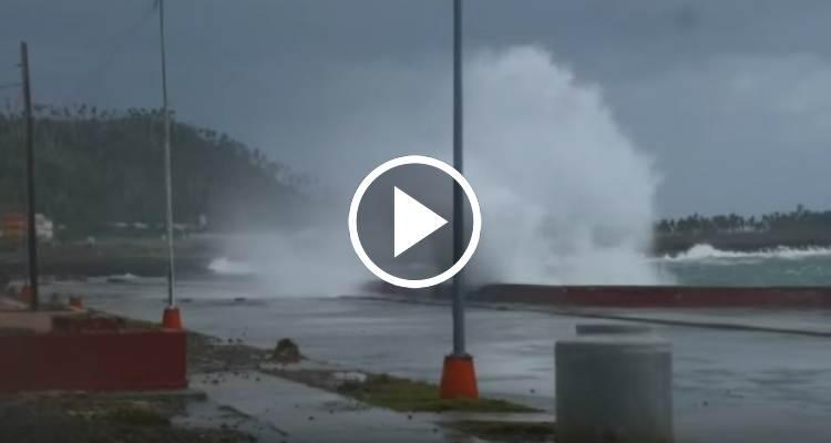 Inundaciones costeras en Baracoa por el paso de un frente frío