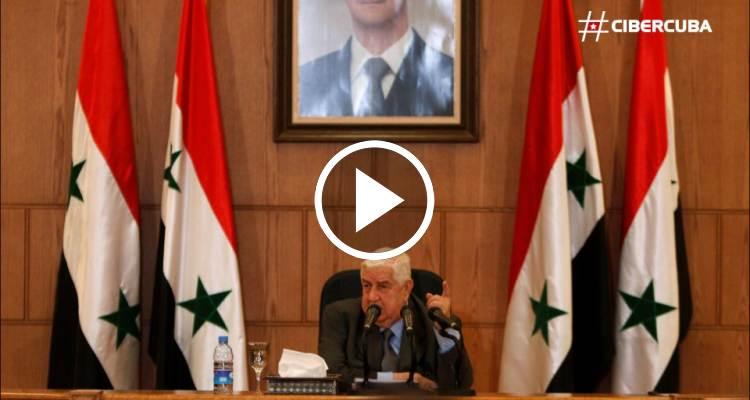 Ministro sirio de exteriores asegur que su gobierno no ha for Gobierno exterior