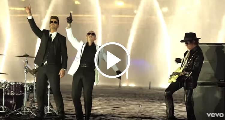 (ESTRENO) Pitbull ft. Robin Thicke, Joe Perry, Travis Barker - Bad Man