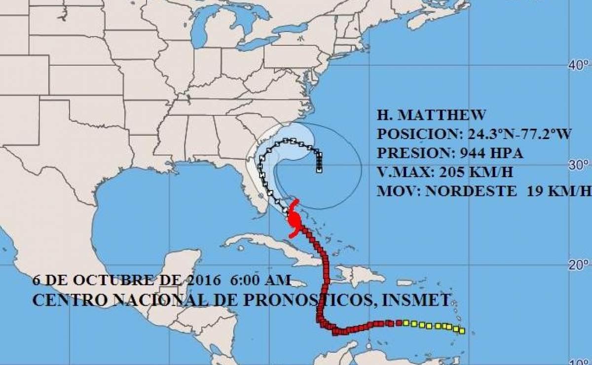 Aviso no. 39 sobre huracán Matthew (6 de octubre 6 AM)