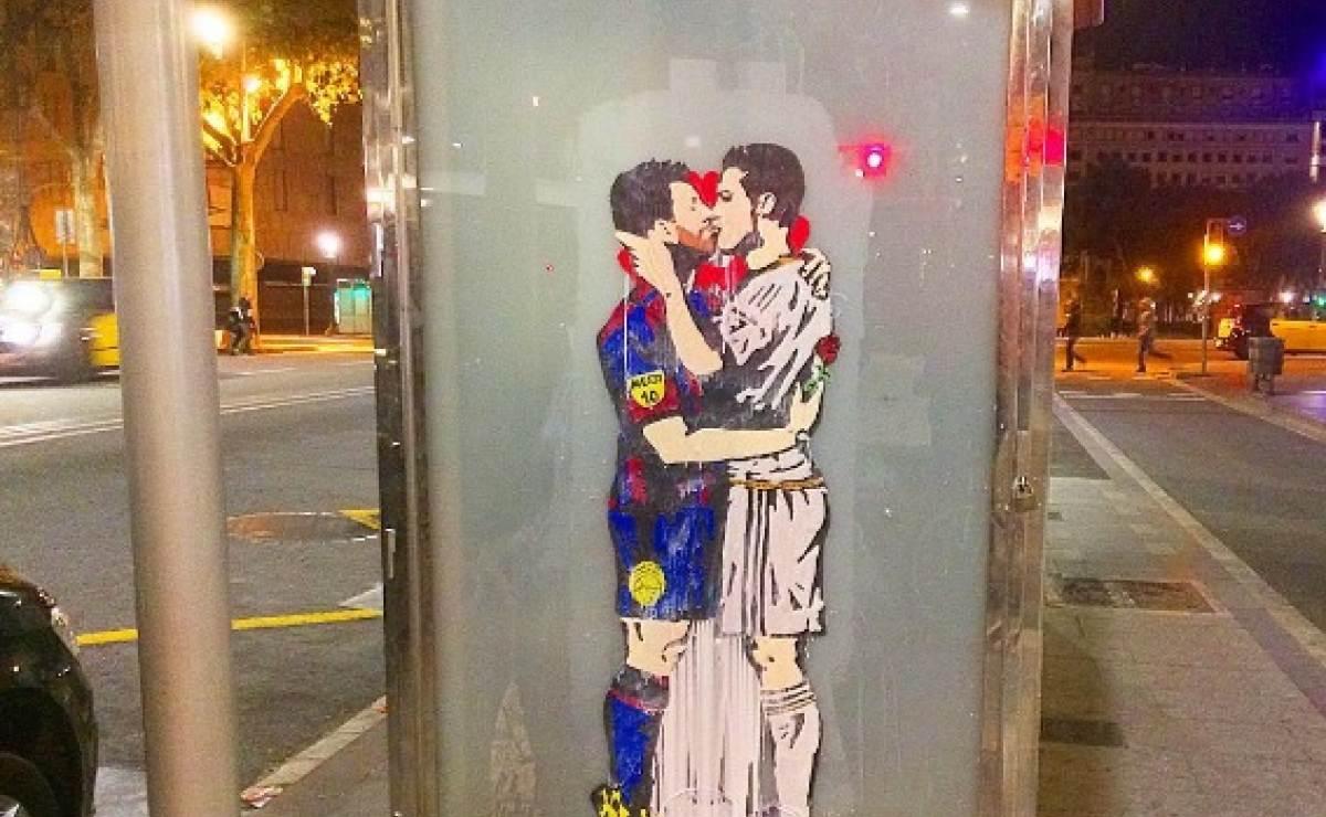 El 'beso' de Messi y Cristiano Ronaldo a tres días del Clásico
