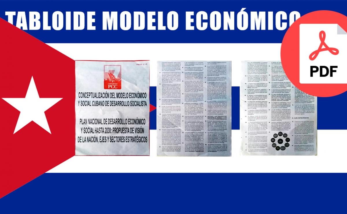 Tabloide sobre el nuevo Modelo Económico en Cuba en formato PDF