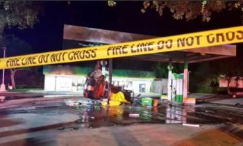 Una persona muere tras impactar su carro contra una gasolinera en Dania Beach