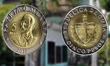 A partir del 3 de julio circulará en Cuba una nueva moneda de cinco pesos