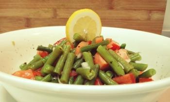 Ensalada de Habichuelas con Tomate y Cebolla