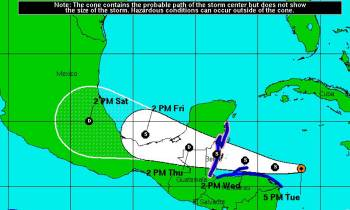 Tormenta tropical Earl se forma sobre el noroeste del Caribe