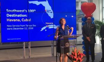 Southwest Airlines volará a Cuba a partir de diciembre desde Tampa Bay