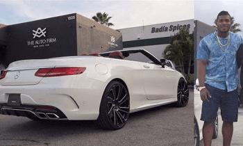 El impresionante Mercedes-Benz nuevo de Yasiel Puig