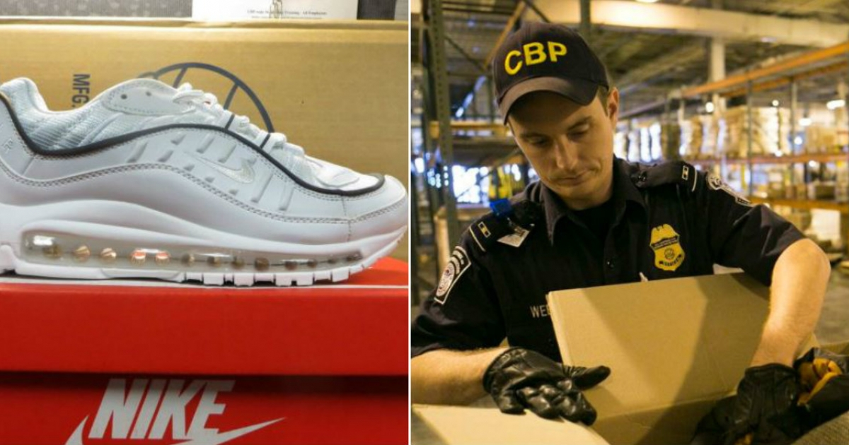 Incautan 9 mil pares de zapatos Nike falsos en contrabando