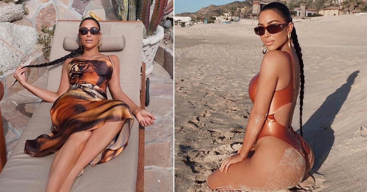 Resultado de imagen para Kim Kardashian presumió su escultural figura en Los Cabos