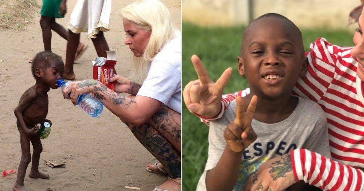 """Así luce hoy Hope, el """"niño brujo"""" que fue rescatado en África"""