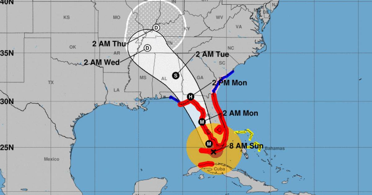 Los Cayos Florida Map.El Huracan Irma Toca Tierra En Los Cayos De La Florida Con Vientos