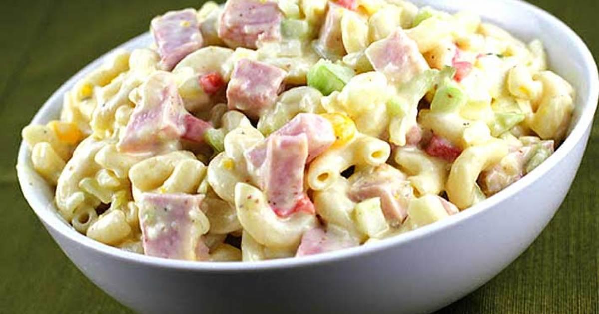 receta de ensalada fría de coditos y jamón cibercuba cocina