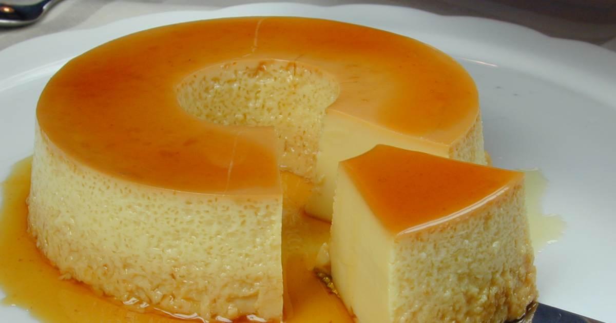 Receta de flan de leche cibercuba cocina - Flan de huevo al bano maria en olla express ...