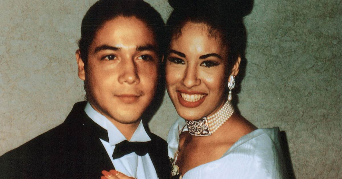Selena y Chris Pérez